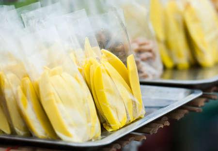 fresh sliced mango