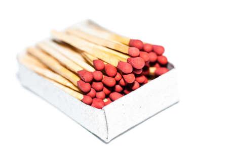 Box of matches isolated on white background Reklamní fotografie