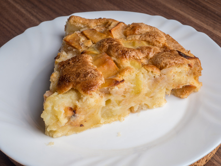 charlotte: Photo of apple pie made in the kitchen