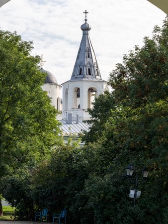 veliky: Church photo on the sky background Stock Photo