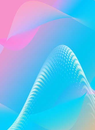 Graphic, wallpaper for your smartfon. Mesh, modern interface of mobile phone. Multicolored pastel gradient for screen background. Zdjęcie Seryjne