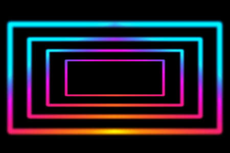 Laser neon colorful lights background. Futuristic reflection psycho and techno design. Stock Photo