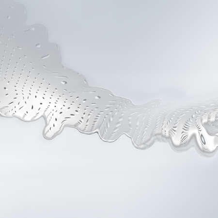 White gray halftone background. Steel silver liquid dotted waves. Reklamní fotografie