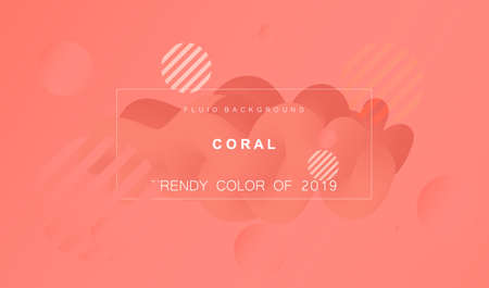 Coral trendy color of 2019. Gradient fluid abstract background. Modern texture for layout, banner, poster, flyer, card, web design. Vector eps10. Vektorové ilustrace