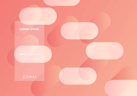 Coral trendy color of 2019. Gradient geometric dynamic abstract background. Modern minimal texture for layout, banner, poster, flyer, card, web design. Vector eps10.