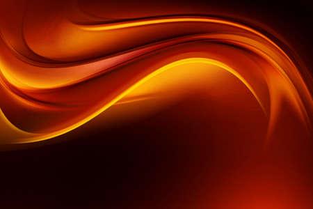 Gold Orange Decorative Wave Design Background