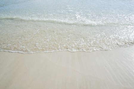 swept: Waves were swept onto the beach