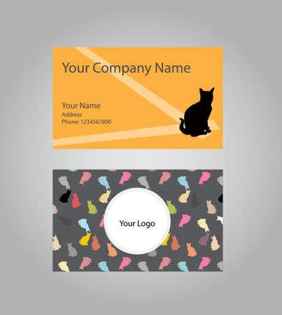 cat business card 向量圖像