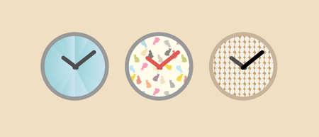 three clock style