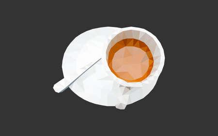 geometric coffee cup