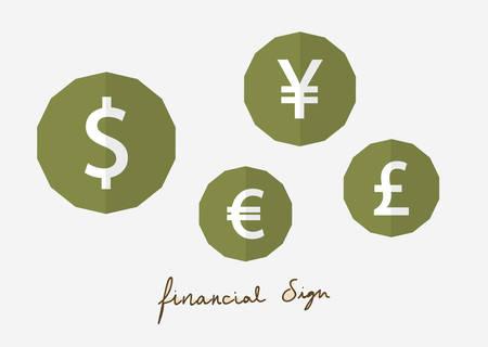 green financial flat style 向量圖像