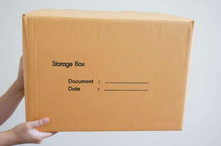 cardbox: sending a box Stock Photo