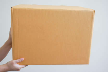 cardbox: woman hands is sending a box