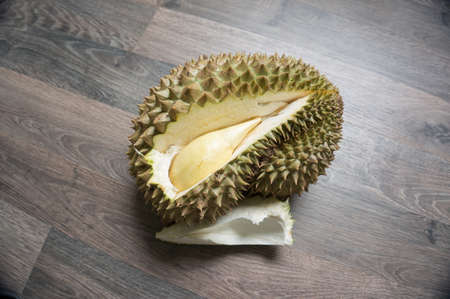 durian monthong  on the laminate floor