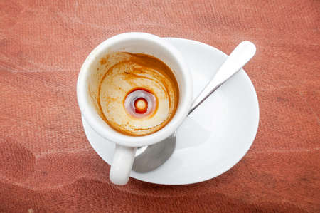 Coffee Stain in Empty espresso Coffee Cup 版權商用圖片