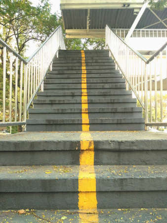 Stairs of fly over the road