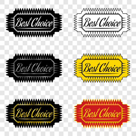 warranty: Best choice, ribbon with inscription of best choice, design element