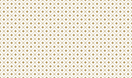 Golden geometric seamless pattern increased with serif lines and squares on white background. Can use for wrapping paper, textile and gift pack.
