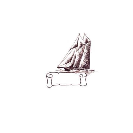 Ship sailing yacht Standard-Bild