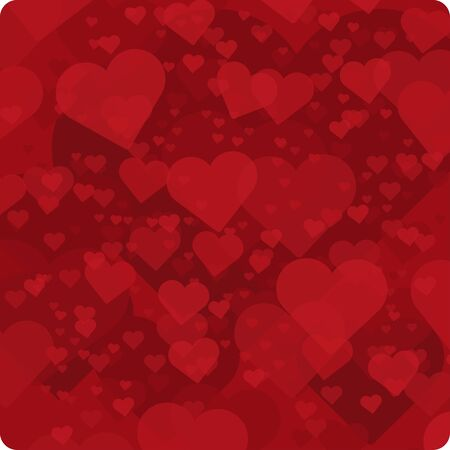 romantic: Vector background with red hearts. Vector background for decoration romantic images.
