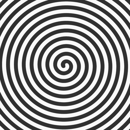 hypnotism: Vector black spiral background. Vector illustration of a rotating lines forming circles.