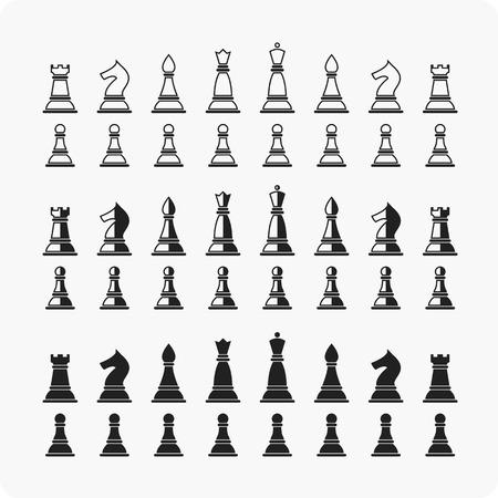 chessmen: Chessmen Set of chess pieces chessmen, chess set, vector illustration.