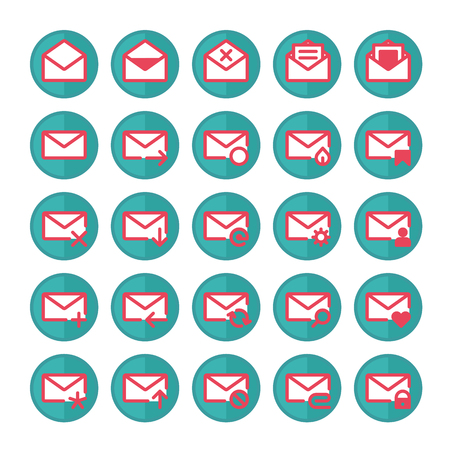 select all: Set of vector icons of universal e-mail.