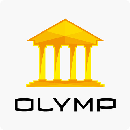 olympus: Olympus Vector Icon. Greek Inspired Icon Series.