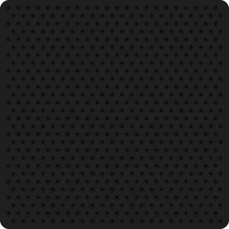 perforated: Texture perforation on dark material. Vector perforated background. Illustration