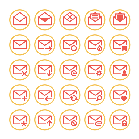 unread: Set of vector icons of universal e-mail.