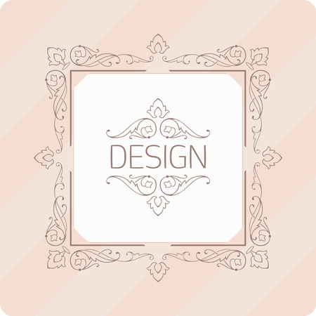 luxury template: Frame album. Monogram luxury template with elegant touches of ornamentation. Luxury elegant design for cafes, restaurants, shops, hotels, stores, jewelry.