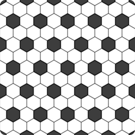 side effect: Black and white hexagon soccer ball background, vector.