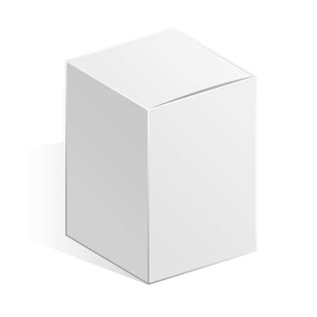 further: Template realistic white box on a white background. Vector illustrations white box for further use in your design work.