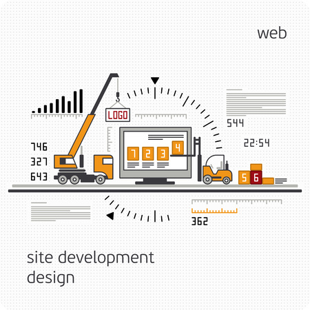 experienced: Site Development, Experienced Team - Vector Illustration, Graphic Design, Editable For Your Design. Vector illustration.