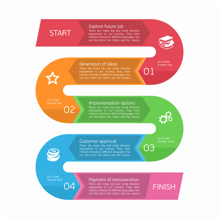 4 5: Vector infographic. Template for diagram, graph, presentation and round chart. Business startup idea concept with 4, 5 options, parts, steps, processes. Successful brainstorming.
