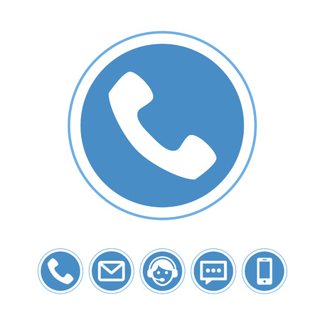 telephone icons: Vector set of telephone icons. Pictograph of phone.