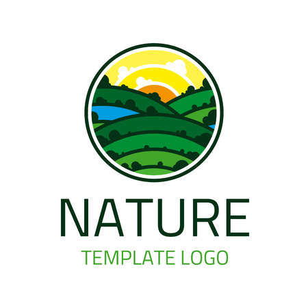tree symbol: Vector  template wildlife. Icon tourism, trips , wildlife. Symbol of a healthy lifestyle.
