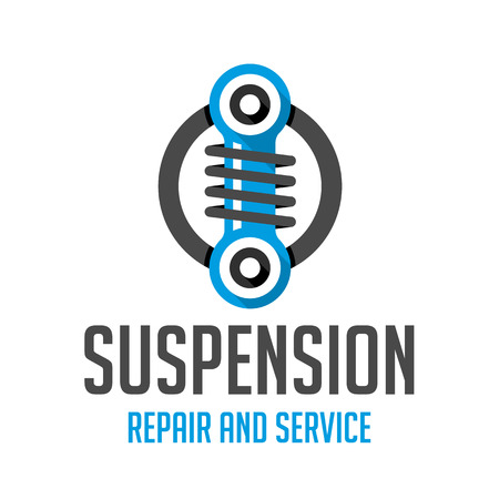 coil spring: car tuning pattern. Icon for car air suspension.