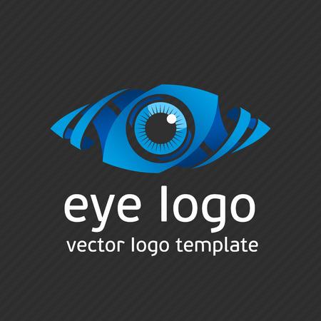 Eye Logo modello di disegno vettoriale. Colorful mezzi icona. Concetto creativo Vision Logotype. Colorful Eye Logo visione. Logo vettore icona. il marchio della mascherina. logo Creative.