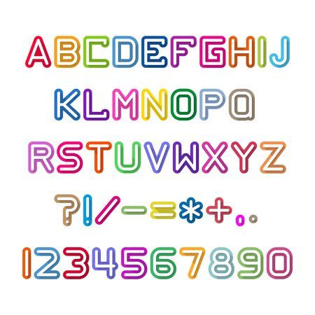 interesting: Fun english alphabet letters set. Font style, vector design template elements.