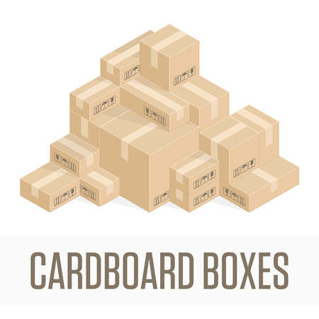 stockpile: illustration of pile of boxes.
