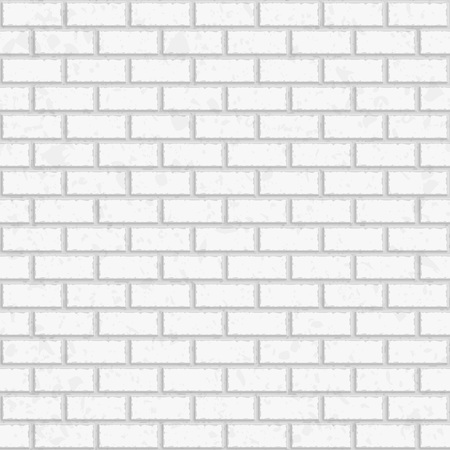 White seamless brick wall. Vector, seamless texture pattern. Interior brick wall background. Tiled pattern for continuous replicate. Vector Illustration