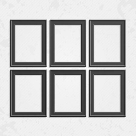 set of black wooden frames wooden square picture frames of dark