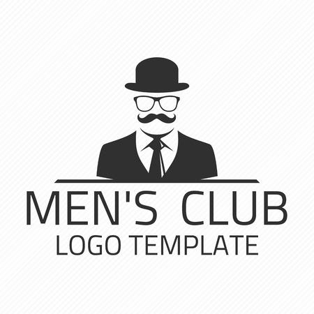 Vintage panowie Klub godła. Ilustracje wektorowe