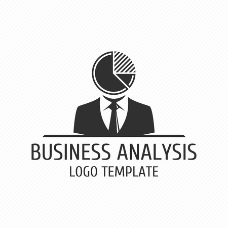 analyst: Business analyst vector  design template. Vector template of analytics, analysis or development business. Universal template . Illustration