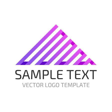 Triangle logo. Zig - zag sign. Creative geometric figure design. Stock vector.