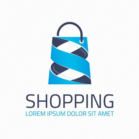 Logo for the shopping center. Shop logotype Template.