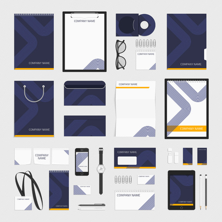 guideline: Corporate identity template big set. Documentation for business. Vector, modern company style for brandbook and guideline. Branding design concept. Card, catalog, pencil, badge, letterhead and more.