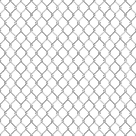Chainlink fence pattern. Vector seamless background. Chain link fence structure texture wallpaper. Illustration