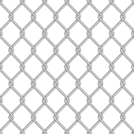 chainlink: Chainlink fence pattern. Vector seamless background. Chain link fence structure texture wallpaper. Illustration